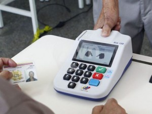 Venezuela Finger print activated voting machines