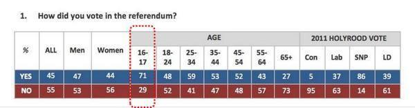 Voting Demographics in Scottish Referendum