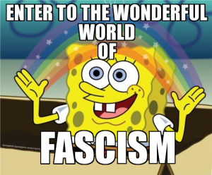 Welcome to the wonderful world of Fascism